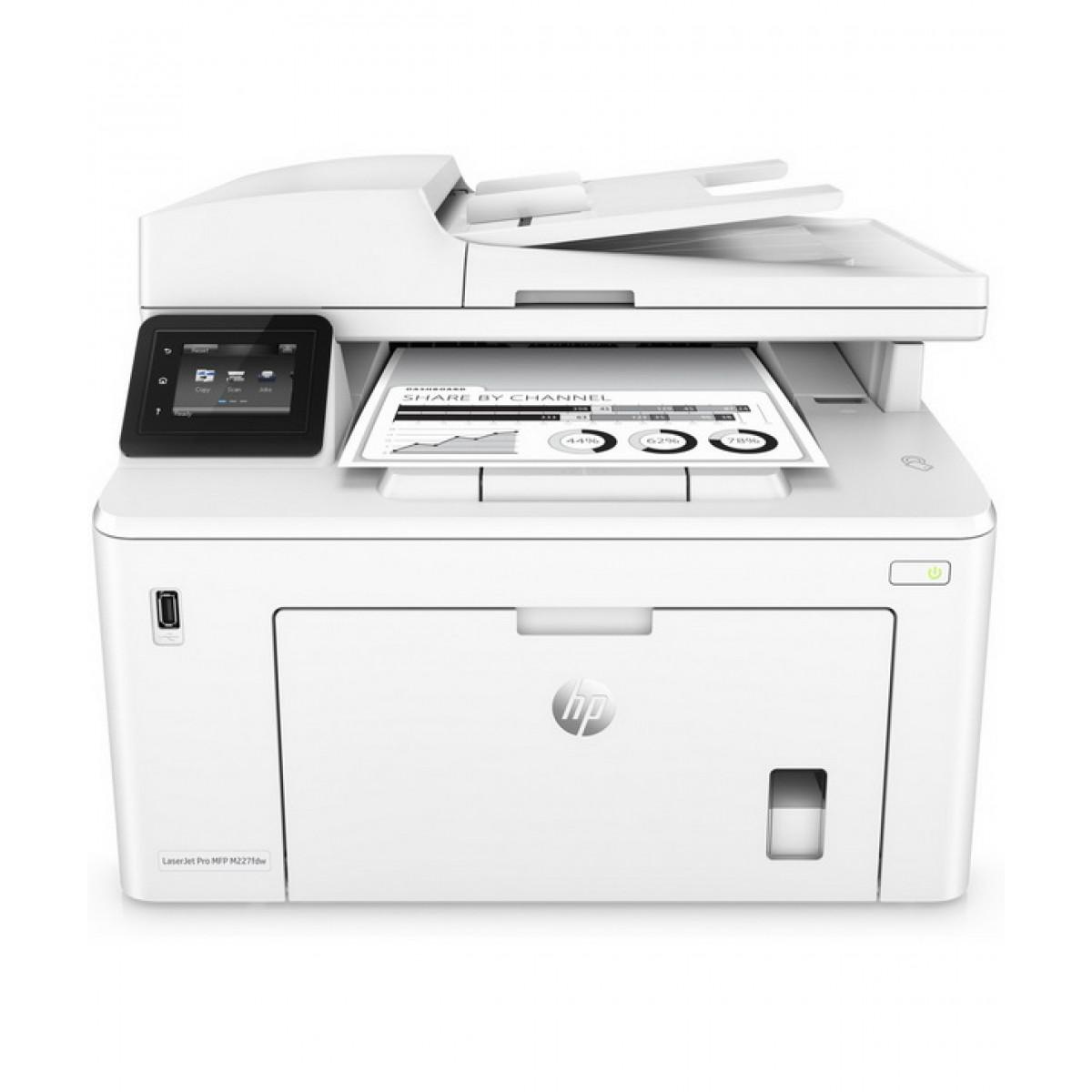 האופנה האופנתית מדפסת משולבת אלחוטית לייזר ש/ל HP LaserJet Pro MFP M227DW CV-73